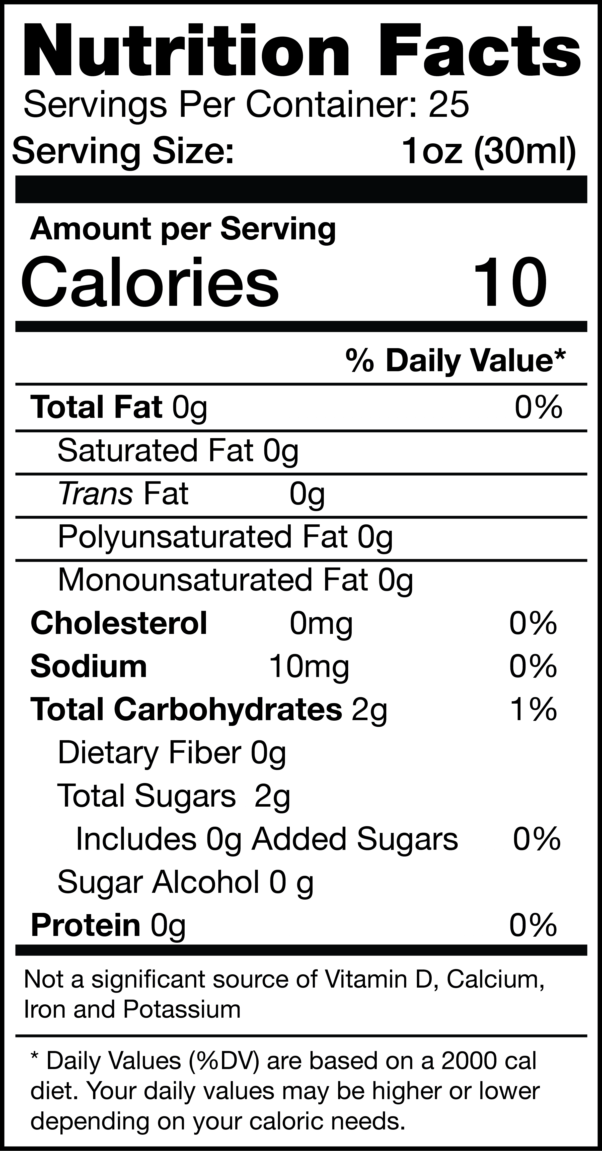 Factor Divina nutrition facts